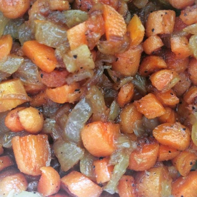 VEGGIES: Boozy Curry Baby Carrots