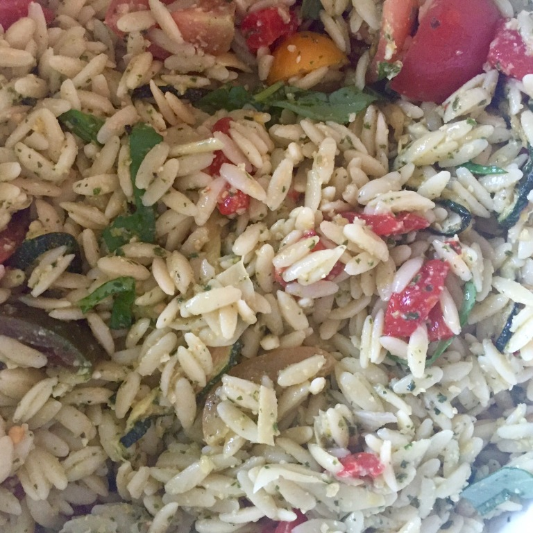 SALAD: Pesto Orzo Summer Salad
