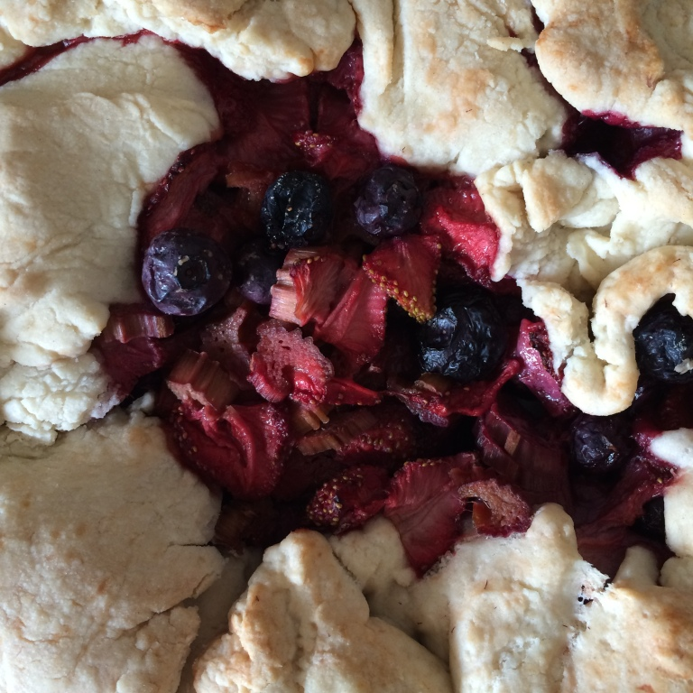 FANCY PANTS: Berry and Rhubarb Galette
