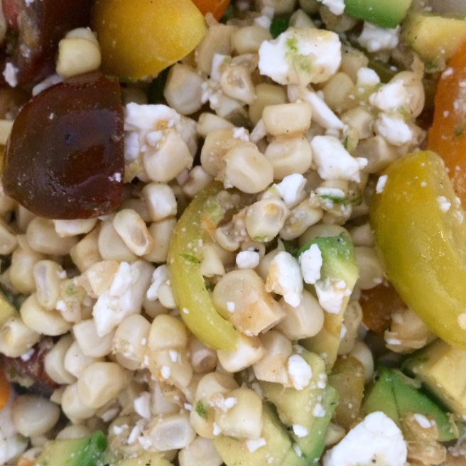 VEGGIES: Roasted Corn Salad with a Honey Lime Dressing