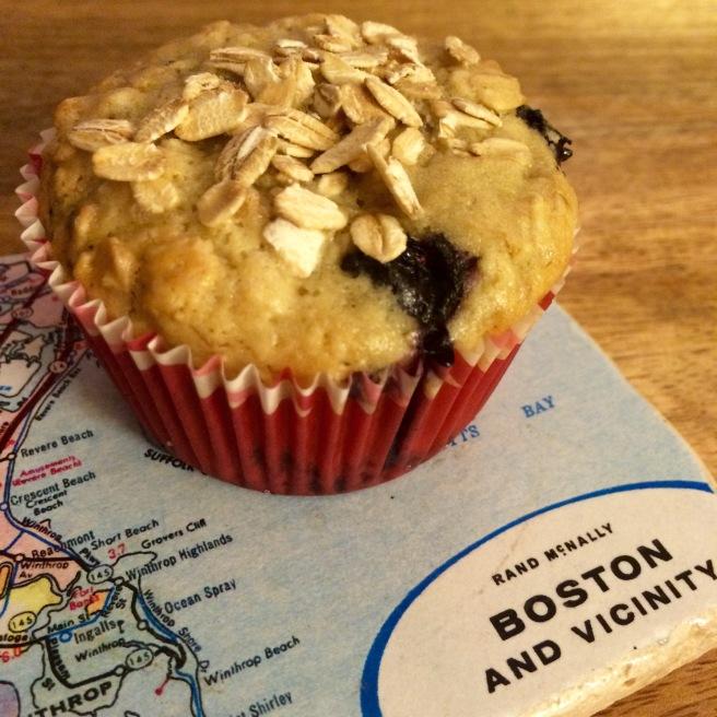 MUFFINS: Peach Blueberry Oatmeal Muffins
