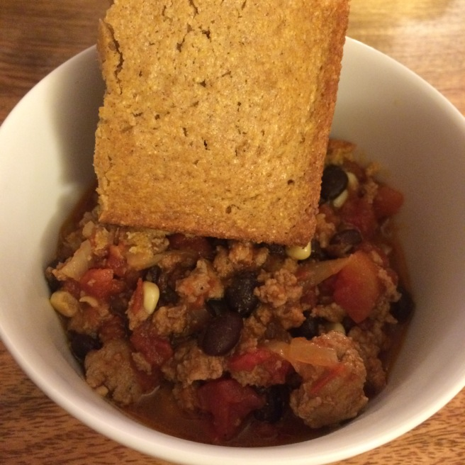 FALL SOUP: Easy Turkey Chili and Pumpkin Cornbread