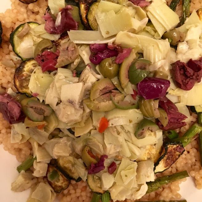 SALAD: Olive and Artichoke Couscous