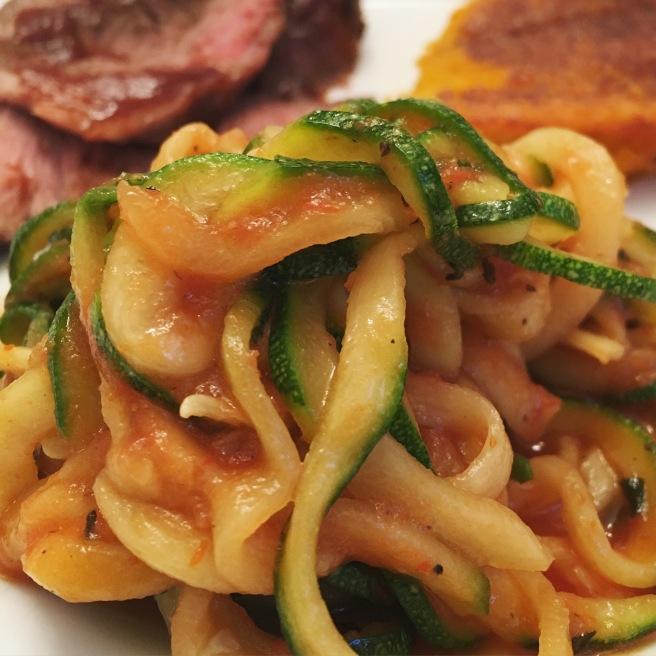 VEGGIES: Saucy Zoodles (aka Zucchini Noodles)