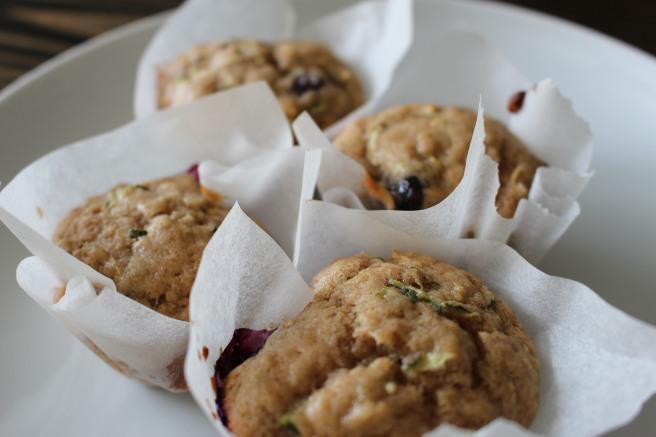 BAKE ME: Vegan Blueberry Banana Zucchini Muffins