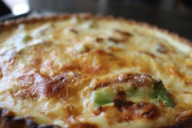 CHEESY: Easy Broccoli Quiche